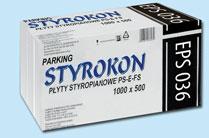 Styropian Parking EPS 036 - STYROKON, cena za m3