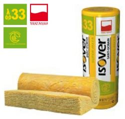 Wełna mineralna SUPER-MATA  ISOVER EPS 033 grubość 150 mm, cena za m2