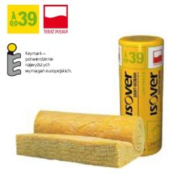 Wełna mineralna UNI-MATA ISOVER EPS 039 grubość 100 mm, cena za m2