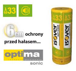System wełny mineralnej OPTIMA SONIC ISOVER EPS 033, grubość 6 cm, 2,40 mb/jedn.