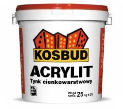 Tynk akrylowy KOSBUD Acrylit-G (kornik), opak. 25kg