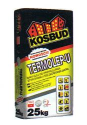 TERMOLEP-U BIAŁY - klej do styropianu i siatki KOSBUD, opak. 25kg
