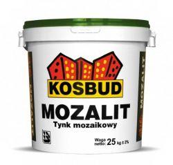 Tynk mozaikowy KOSBUD Mozalit z dodatkiem brokatu (drobnoziarnisty), opak. 25kg