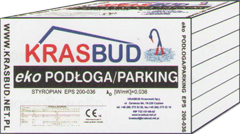 Styropian PODŁOGA/PARKING -  EPS 200-036 - KRASBUD, cena za m3