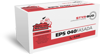 Płyty Styropianowe STYR-BUD EPS 040 Fasada, cena za m3