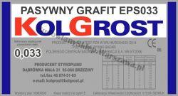 Styropian grafitowy KOLGROST fasada EPS033 pasywny cena m3 transport gratis