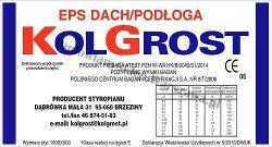Styropian KOLGROST EPS DACH / PODŁOGA Standard  (60kPa) 1,2 tony/m2 cena m3