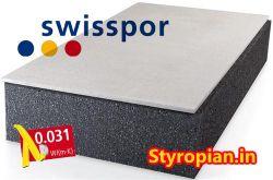 Styropian grafitowy Fasada LAMBDA WHITE GRAFIT EPS 031 SWISSPOR z białym frontem, cena za m3
