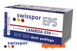 Styropian Dach/Podłoga grafitowa LAMBDA 100 EPS100-030 SWISSPOR, cena za m3