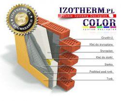 System docieplenia styropianem EPS040 gr. 10cm + kleje + tynk Akrylowy Izotherm 5 lat gwarancji cena m2