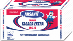Styropian Arsanit Thermo fasada extra EPS70 0,038 TR100 , cena za m3
