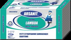 Styropian grafitowy Arsanit Thermo Lambda dach/podłoga EPS70 0,0322,1 t/m2, cena za m3