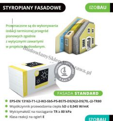 Styropian Izobau Lubau Fasada Standard EPS045 lambda 0,045