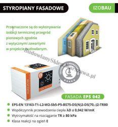 Styropian Izobau Lubau FASADA EPS042 cena 1m3