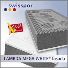 Styropian SwissPor grafitowy LAMBDA MEGA WHITE fasada EPS031 TR150