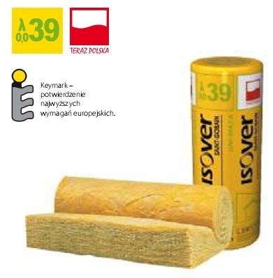 Wełna mineralna UNI-MATA ISOVER EPS 039 grubość 120 mm, cena za m2