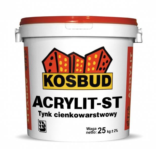 Tynk silikatowy KOSBUD Acrylit-ST (baranek), opak. 25kg