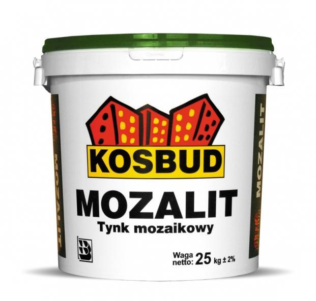 Tynk mozaikowy KOSBUD Mozalit z dodatkiem brokatu (gruboziarnisty), opak. 25kg