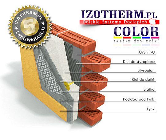 Siatka elewacyjna Izotherm żółta 160 gr/m2 EU rolka 50m2