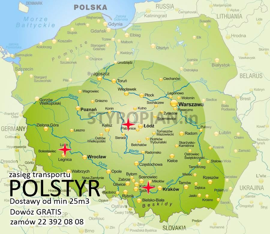 Styropian POLSTYR EPS S 040 FASADA, cena za m3