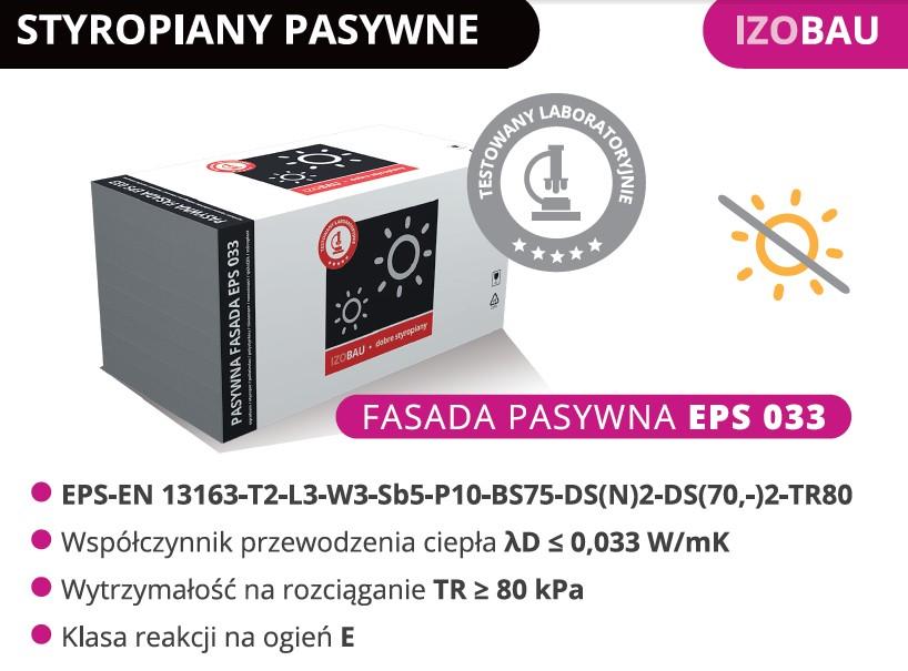 Styropian Pasywny Fasada Izobau Lubau EPS033 grafitowy 25%cieplej